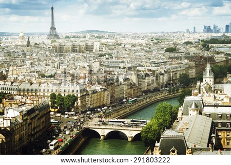 View on  Paris, France - stock photo