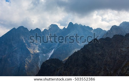 View on peaks in High Tatras mountain,Slovakia