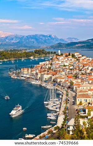 View on Poros, Greece - stock photo