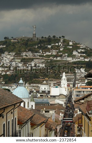 View on quito city. ecuador. south america - stock photo