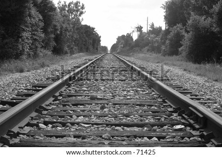 View on railroad tracks