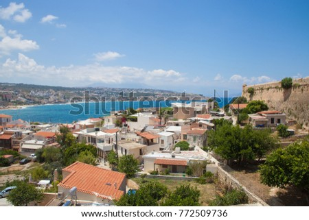 View on Rethymno on Crete. Greece