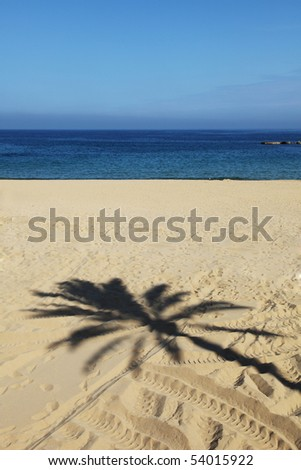view on the beach at Barcelona - stock photo