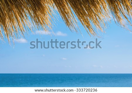 View On The Black Sea From The Shore - stock photo