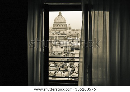 View on the Vatican City - stock photo