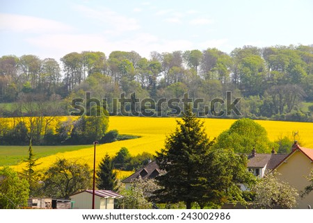 View on Torcy-le-Grand, typical Normandy village, France - stock photo