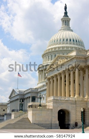 View on US Capitol - stock photo