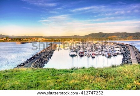 View onto Coffs Harbour in Northern NSW, Australia
