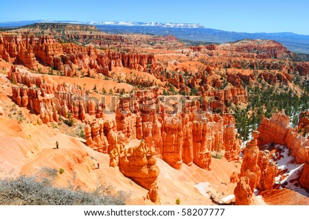 View over Bryce canyon