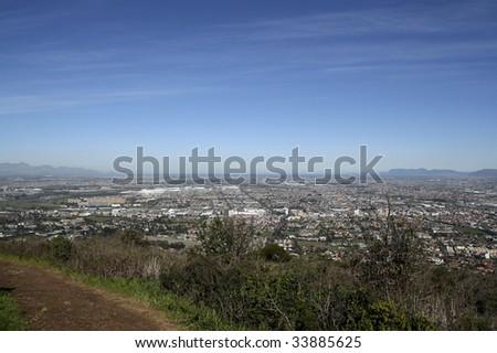 View over Cape Peninsula - stock photo