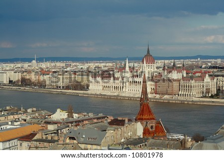 View over Danube of Budapest
