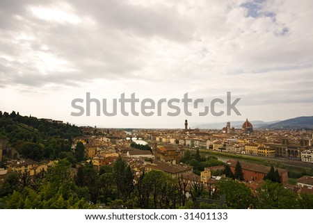 view over Florence