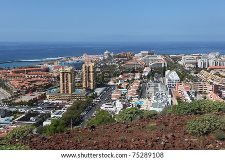 View over Las Americas, Canary Island Tenerife, Spain - stock photo