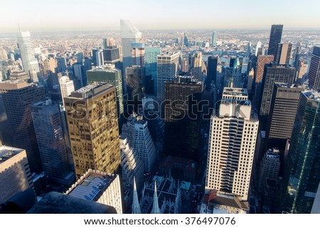 View over New York, buildings of Manhattan