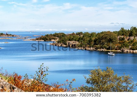 View over St. Anna archipelago in the Baltic Sea from an Island called Maro