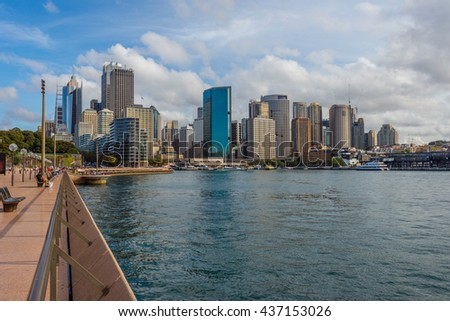 View over Sydney syline in daytime - stock photo