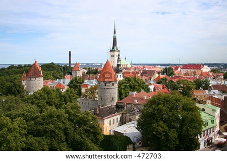View over Tallinn - stock photo