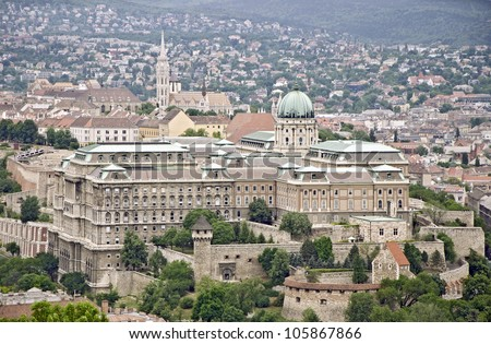 View over the capital of Hungary, Budapest - stock photo