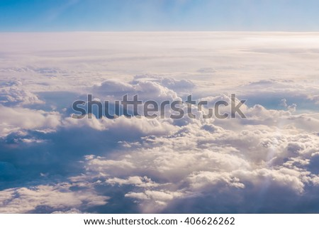 View over the clouds - stock photo