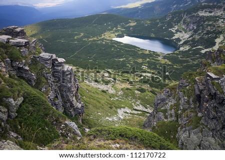 View over the Rila mountain - stock photo