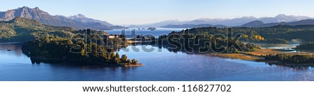 View point, lake Perito Moreno, Bariloche, Argentina - stock photo