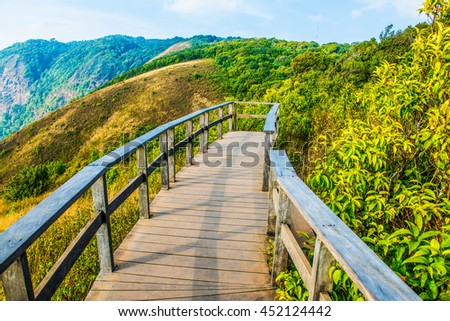 View Point of Kew Mae Pan in Doi Inthanon Natural Park, Thailand - stock photo