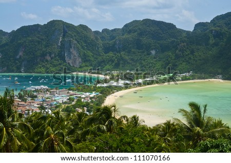 View point of Ko Phi Phi Don Island - stock photo