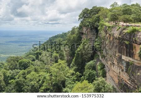 view point PHA MOR E DANG,SRI SAKET in Thailand - stock photo