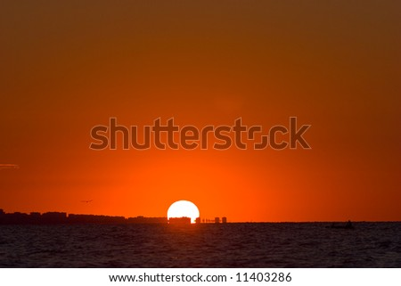 view series: hot summer red sea sunset