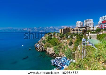 View to Antalya (Turkey) - travel background - stock photo