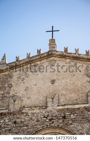 View to church in Erice (province of Trapani in Sicily, Italy)