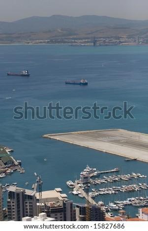 View to Gibraltar - stock photo