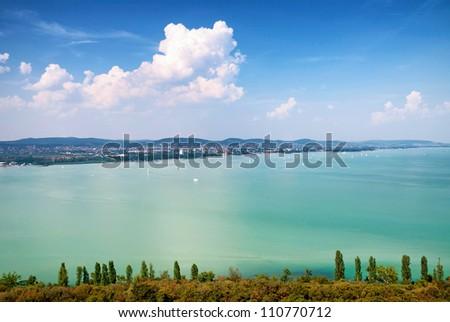 View to Lake Balaton,Hungary - stock photo