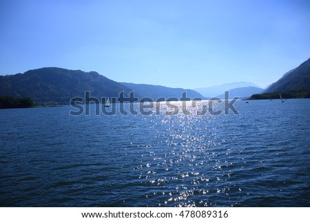 view to lake ossiach in austria