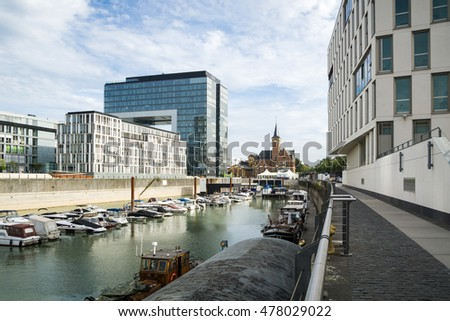 View to Rheinau Harbor Building / Cologne