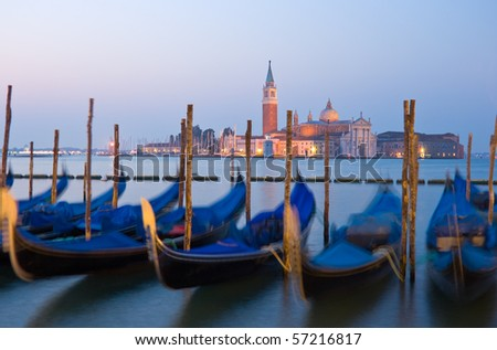 View to San Giorgio Maggiore at dawn, Venice, Italy - stock photo