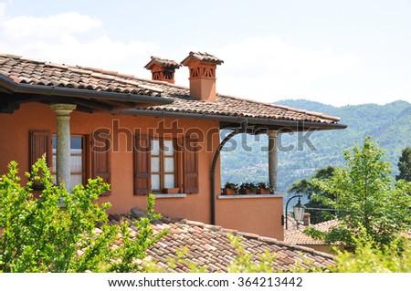View to the lake Como from Menaggio town, Italy - stock photo