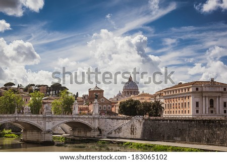 View to the Vatican, Rome, Italy - stock photo