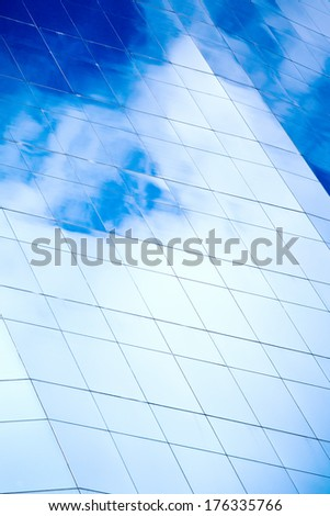view to wall of business center  - stock photo