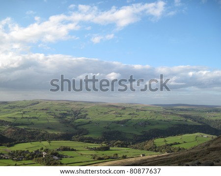 View towards Todmorden, West Yorkshire - stock photo