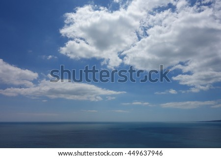 View with sea and cloudy sky