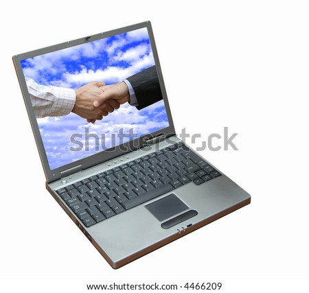 Viewing the success !!! - stock photo