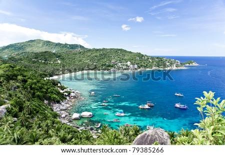 Viewpoint at Koh Tao Island - stock photo