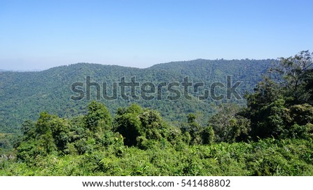 Viewpoint of Khao Yai National park, Thailand