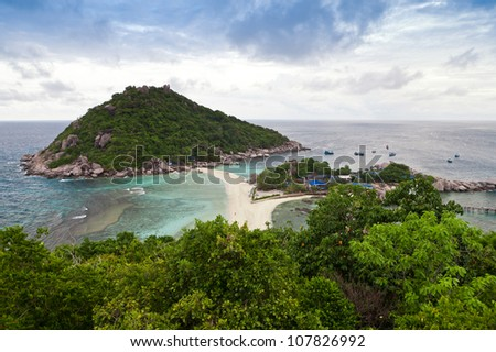 Viewpoint of Nang Yuan island at the southern of Thailand