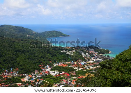 Viewpoint of Phuket  south of Thailand. - stock photo