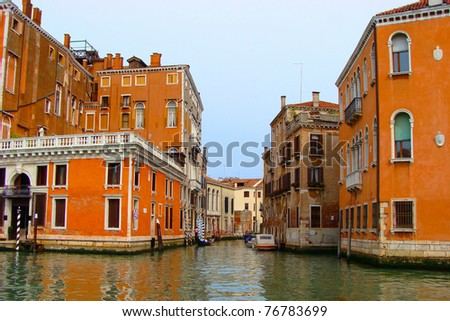 Views along the Grand Canal, Venice, Italy - stock photo