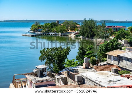 Views around Cienfuegos town on the Caribbean Island of Cuba