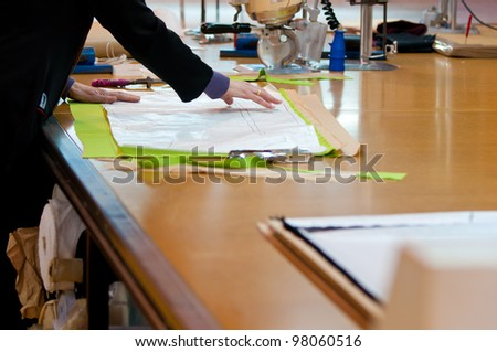Views from a textile factory - stock photo