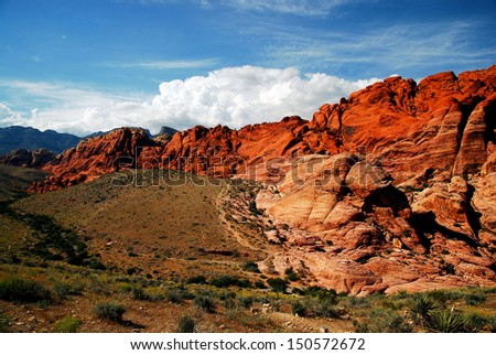 Views from Red Rock Canyon, Nevada / Red Rock - stock photo